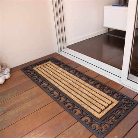 doormat for doors scroll rubber door mat 45 x 120cm