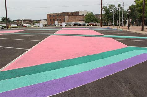 colored asphalt from asphalt to covington parking lot now of
