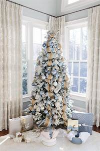 Gold, And, Blue, Christmas, Decorations