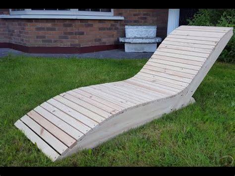 fabriquer chaise comment faire une chaise longue