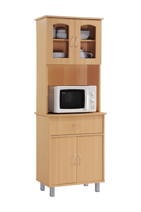 Amazon.com: Hodedah Long Standing Kitchen Cabinet with Top