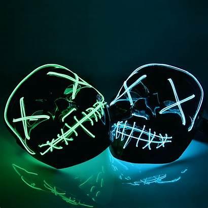 Led Halloween Mask Purge Masks Party Dark