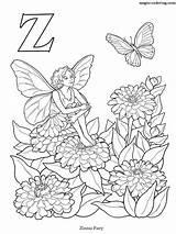 Zinnia sketch template