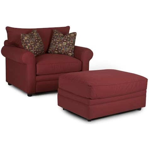 comfy armchair with ottoman klaussner comfy chair and ottoman hudson 39 s furniture