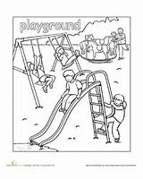 Playground Clipart Coloring Colouring Community sketch template