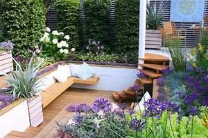Terrassen Deko Modern : le jardin paysager tendance moderne de jardinage ~ Bigdaddyawards.com Haus und Dekorationen