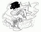Coloring Shark Pages Mouth Printable Open Monster Colouring Sharks Clipart Angry Pdf Coloringhome Template Library sketch template