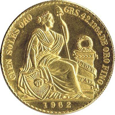 moneda de oro  soles peru  gold  silver coins