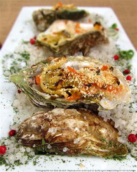 cuisiner des huitres huîtres gratinées au four sauce crémeuse au vin blanc