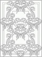 Coloring Pages Nouveau Dover Deco Books Publications Adult Butterfly Doverpublications Animal Adults Printable Colouring Samples Mandala Butterflies Sheets Enough Drawings sketch template