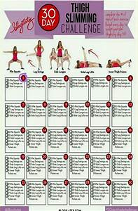 Thigh Slimming 30 day challenge | Easy & Healthy ...