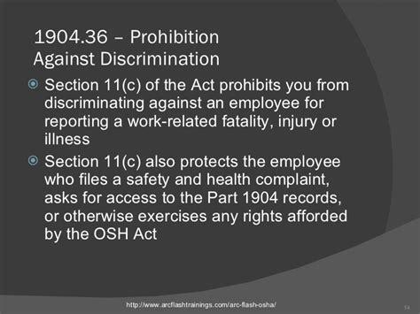 section 11 c of the osh act osha arc flash