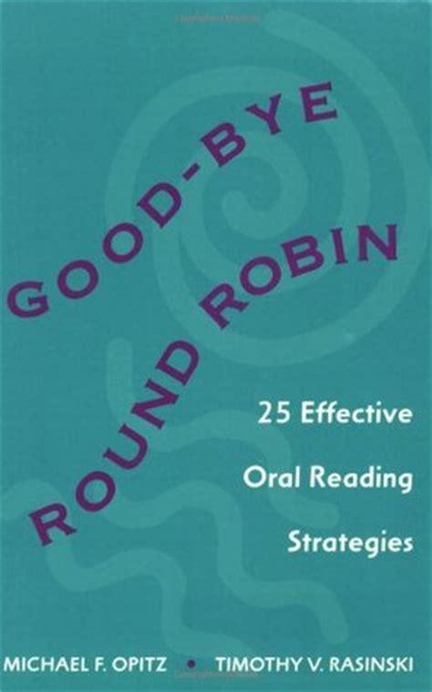 good bye  robin  effective oral reading strategies