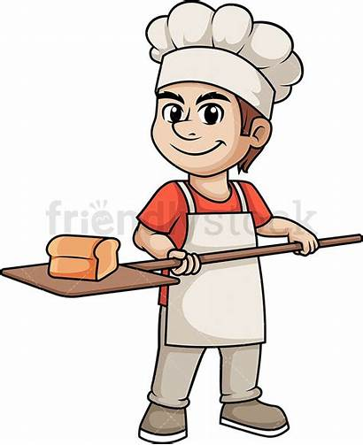 Bread Baker Bakery Baking Cartoon Clipart Clip