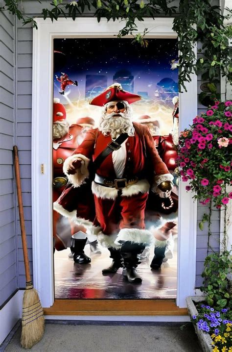 3d christmas door decorations front door cover entry doors 3d banner decor outside home on20 ebay