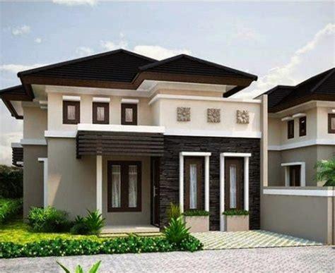 kombinasi warna cat rumah yang indah pada bagian luar