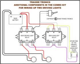 Traxide Combo Headlight And Driving Light Wiring Upgrade