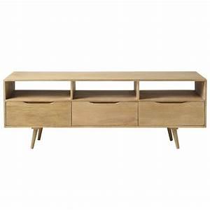 meuble tv vintage en manguier l 165 cm trocadero maisons With superb meuble style maison du monde 5 meuble tv design industriel