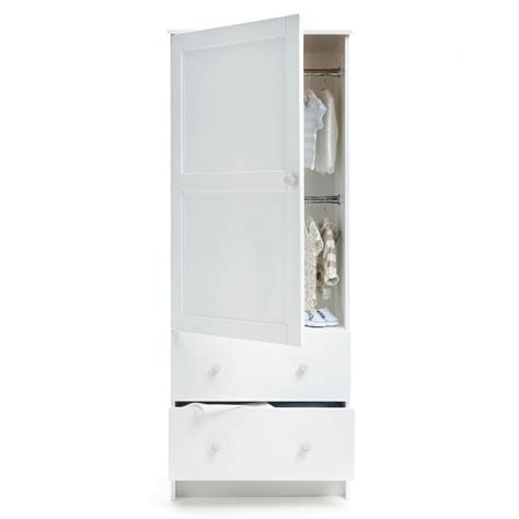 Single White Wardrobe by Obaby Single Wardrobe White New Kiddies Kingdom
