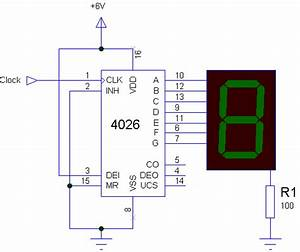 7 Segment Display Clock Circuit Diagram
