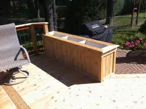 cedar planter box built from tongue and groove 1x6 1x4