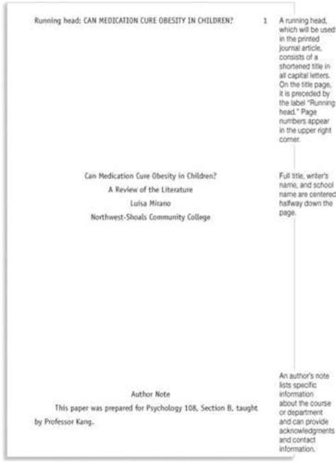 apa style paper template how to prepare an apa style term paper