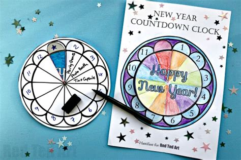 New Year's Eve Countdown For Kids  Red Ted Art's Blog