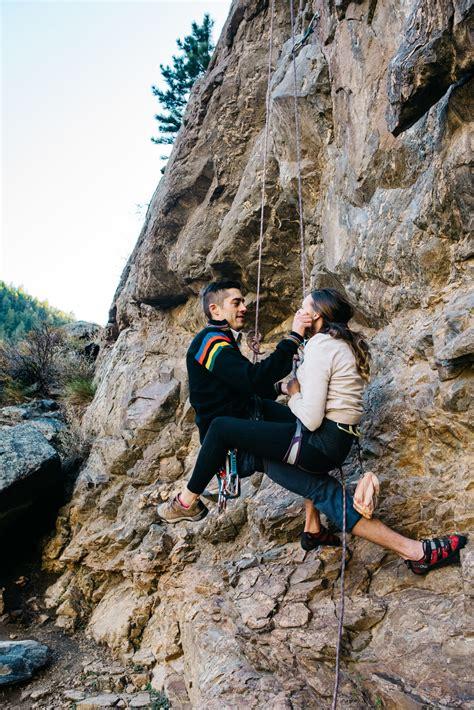 Adventure Session Rock Climbing & Mountain Top Couple