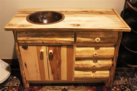 rustic vanities rustic bathroom vanity log vanity