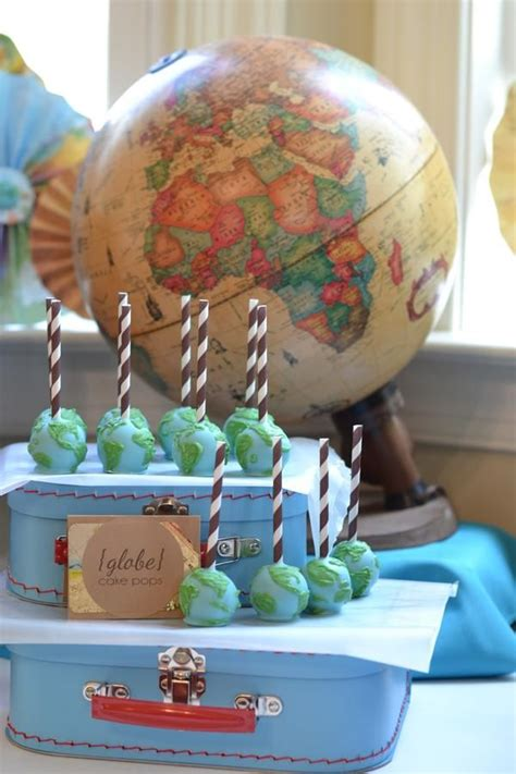 Welcome To The World Baby Shower Globe Cake Pops Who