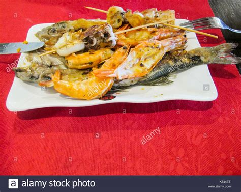 cuisine low cost seafood buffet restaurant stock photos seafood buffet