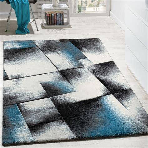 tapis gris  turquoise idees de decoration interieure