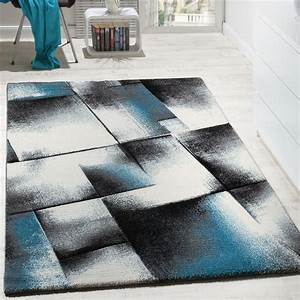 tapis design salon tapis poils ras chine turquoise gris With tapis salon gris design