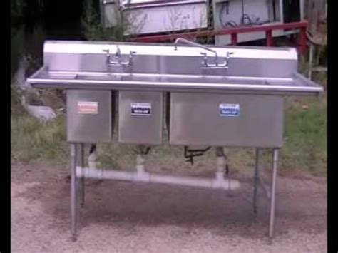 three compartment sink set up 3 compartment sink stainless steel sink restaurant