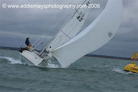The Contessa 32 nationals are held in the Solent from Hamble