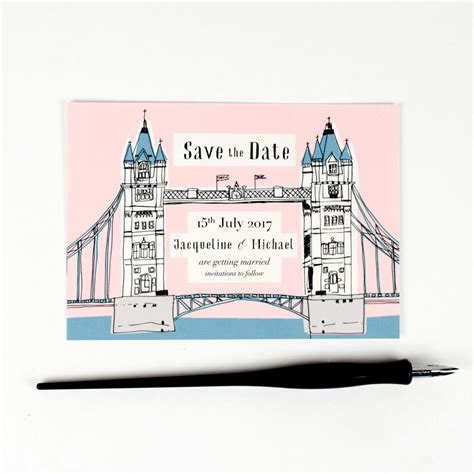 old london save the date in 2019 hollyhock lane wedding
