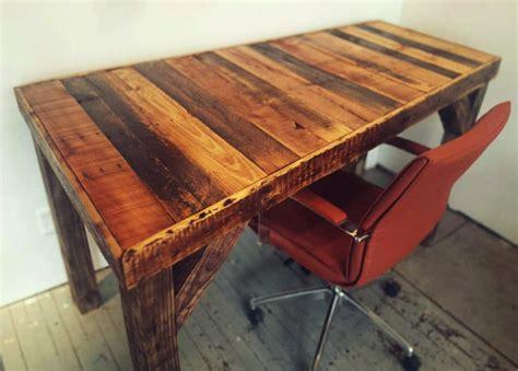 rustic wood trim móveis de palete passo a passo mesa de escritó