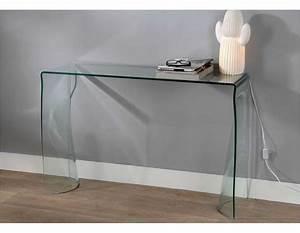 Console En Verre : petite console en verre ~ Teatrodelosmanantiales.com Idées de Décoration