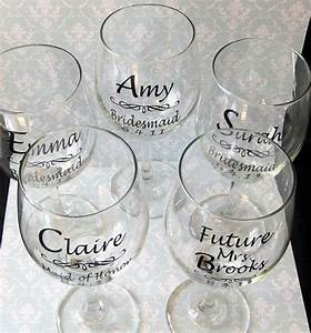 Diy wedding bride and bridesmaid wine glasses vinyl decals for Where to buy vinyl letters for wine glasses