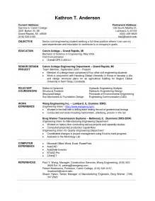 resume format student engineers popular college curriculum vitae sle