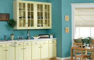 couleur peinture cuisine 66 idees fantastiques With kitchen colors with white cabinets with 3 peice wall art