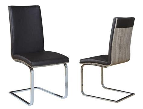 chaise h et h chaise sejour lathi 56 chene gris fonce