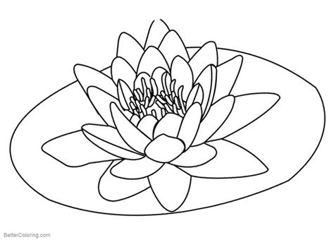 pond coloring pages lily pad flower  printable