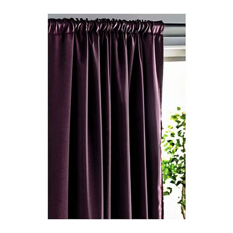 ikea werna curtains drapes 2 panels lilac purple block out 98 quot