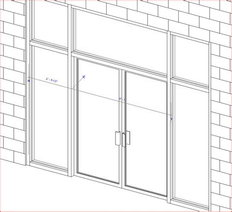 revitcity storefront doors in curtain wall