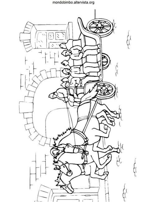 carrozze con cavalli disegni carrozze da colorare mondo bimbo
