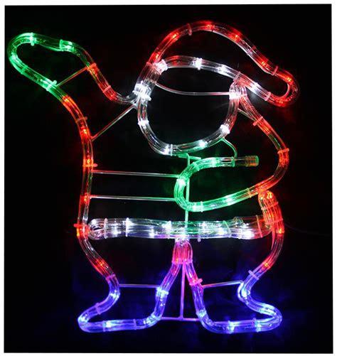 rope light santa 37cm multi coloured led waving santa rope light in outdoor decoration