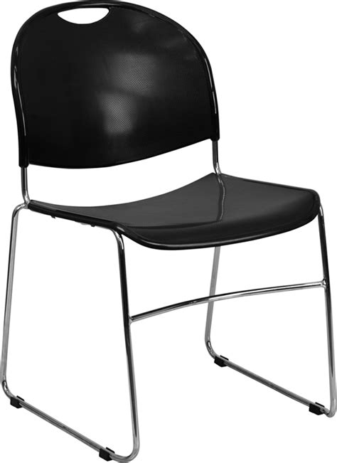 Hercules Plastic Stacking Chairs by Hercules Series 880 Lb Capacity Black Ultra Compact Stack