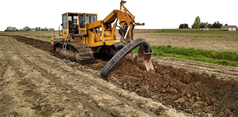 field drainage plowing in tile drainage tile repair