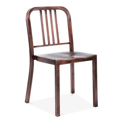 restaurant la chaise metal dining chair 1006 brushed copper restaurant chairs
